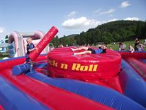 inflatable gladiator jousting hire